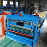 Dach-Fliese-glasig-glänzender Typ Rolle, die Maschine bildet
