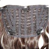 Зажим в человеческих волосах 100% выдвижений человеческих волос закрытия