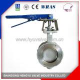 Válvula de borboleta do elevado desempenho do aço inoxidável com suporte