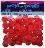 "POM Poms. 75 "" 45/Pkg-Red"