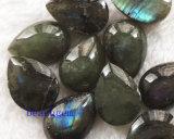 Grânulos Peça-Naturais de Checkbord da pera da labradorite da jóia