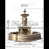 Fontana dorata Mf-571 del calcio del granito del travertino di pietra di marmo dell'acqua