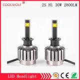 경쟁가격을%s 가진 공장 직매 2s H1 30W 2800lm LED 차 LED 헤드라이트 전구 Headlamp