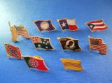Pin differente della bandierina, distintivo del metallo della bandierina (GZHY-NB-004)