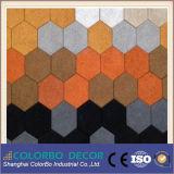 El panel acústico material insonoro usado de las lanas de madera de la sala de conferencias