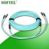 Des Kabel-MPO Steckschnür Steckschnür-einzelnen des Modus-Om3 MPO LC