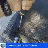 Malla de malla de mosquito de fibra de vidrio de color gris malla 18 * 16