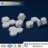 China fabricante suministra alúmina Hoja de cerámica hexagonal como el desgaste de forros resistentes