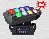 8PCS 10W RGBW 4in1 LED Armkreuz-helles bewegliches Hauptlicht für Stadiums-Disco