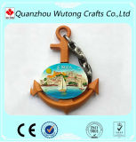 Mestieri su ordinazione di arte del magnete del frigorifero della resina di disegno dell'ancoraggio della nave di paesaggio
