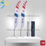 Bandierina di spiaggia su ordinazione lavorata a maglia della piuma della bandiera di stampa del poliestere
