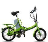 Bicicleta de dobramento elétrica com verde de grama (HQL-LPB02)