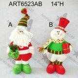 """14 """" H che si levano in piedi i giocattoli flessibili della decorazione di Pupazzo di neve-Natale della Santa"""