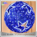 Blue Garland Snowflake LED Decoración Motif Decoración Ornament Ball
