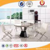 Tabella della mobilia della sala da pranzo del marmo del blocco per grafici dell'acciaio inossidabile (UL-DC336)