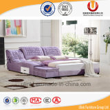 현대 침실 가구는 놓는다 특대 직물 침대 (UL-FT803B)를