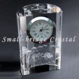 Reloj de tabla del laser del cristal 3D (BJ0058)