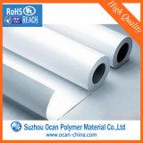 лоска полиэтиленовой пленки 680*0.25mm крен PVC твердого белый для печатание