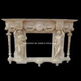 Chaminé Statuary de mármore da cornija de lareira da bordadura do incêndio (L1-17)