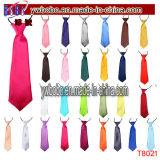 Festa nuziale elastica della cravatta del legame del collo del raso normale solido dei capretti dei ragazzi dei bambini (T8021)