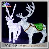 Напольный квадратный свет украшения северного оленя рождества СИД 3D акриловый