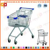고품질 금속 슈퍼마켓 쇼핑 카트 트롤리 (ZHt275)