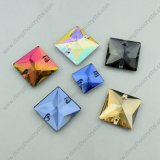 Hole를 가진 정연한 Flat Back Glass Beads