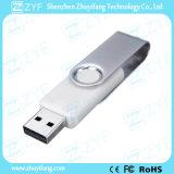 Weißes Schwenker-Plastik8gb USB-Laufwerk mit kundenspezifischem Firmenzeichen (ZYF1810)