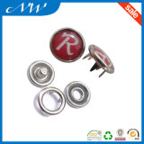 La soie a estampé le bouton classique de rupture de fourche de perle en métal
