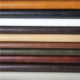 Couro sintético do PVC do cavalo louco superior da classe para o Upholstery da mobília