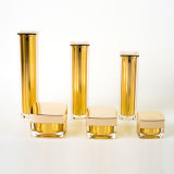 Bottiglie senz'aria quadrate acriliche con i vasi