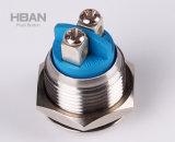 Ce ISO9001 22mm Schakelaar van de Drukknop van de Schroef van het Roestvrij staal van de Vandaal van de Mier de Eind Normale Open/Gesloten Kortstondige