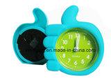 Mini horloge d'alarme de Tableau de doigt de silicones créateurs incassables de forme pour la décoration à la maison