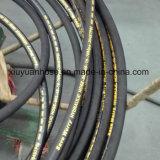 Tubo flessibile di gomma idraulico flessibile dell'olio ad alta pressione a spirale con 902-4s