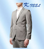 Juego de asunto flaco del ajuste de 2016 lanas de lujo del gris el 100% para los hombres