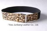 Cinghia dei capelli del cavallo della cinghia di cuoio della pelliccia del leopardo per le donne Jbe1637