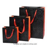 Saco cosmético do papel luxuoso da alta qualidade para a loja
