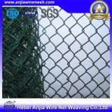 Загородка звена цепи ячеистой сети оцинкованной стали конструкционных материалов