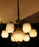 Luz de decoração europeia com mármore espanhol, lâmpada pendente