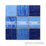 плитка мозаики плавательного бассеина фарфора волны 4 '' x4 '' смешанная голубая (BCP003)