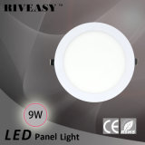 9W luz redonda de la luz del panel del acrílico LED LED con la luz del panel aislada Ce del programa piloto