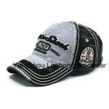 Enzyme Stone Wash Denim Flet Applique Golf Baseball Cap