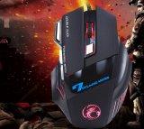 Rato de venda superior do jogo com o rato claro do jogo 7D do diodo emissor de luz