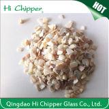 O vidro branco esmagado de Lanscaping a areia de vidro lasca o vidro decorativo