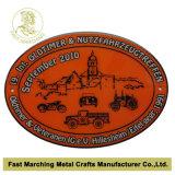 El acero inoxidable imprimió la medalla con la insignia de coches, los contactos impresos aduana de la solapa