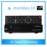 H. 265 T2 combinato DVB C Zgemma H5 del decodificatore DVB S2 DVB della TV