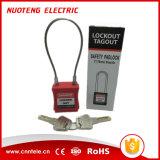 鋼鉄ケーブルの手錠の安全パッドロック