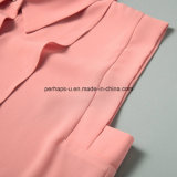 형식 순수한 색깔 숙녀 셔츠 형식 소매 없는 블라우스 여자 옷