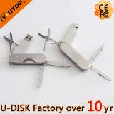 De Aandrijving van de Flits van het Mes USB van het Leger van het metaal (yt-1218L)
