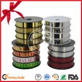 Rizado cinta impresa barato paquete regalo para la decoración de Navidad